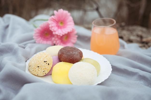 Mochi-ijs, traditionele japanse rijstsnoepjes