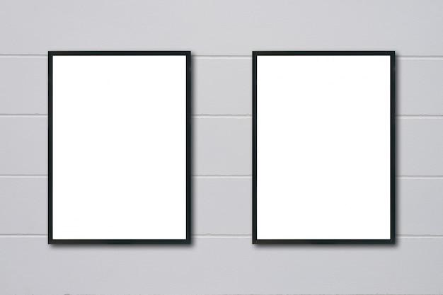 Mock-up aanplakbiljet grijze banner materiaal