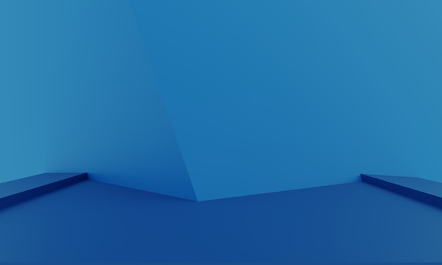 Mock up abstracte minimale moderne lege showcase als achtergrond voor productpresentatie