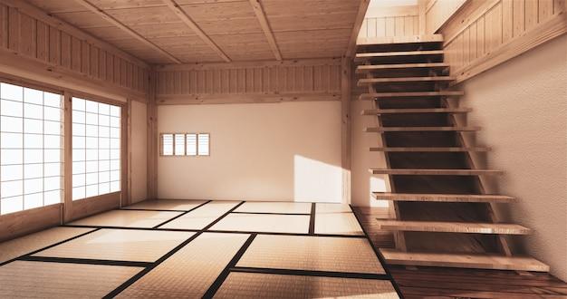 Mock-up, japanse tatami-mat met lege ruimte de mooiste ontwerpen