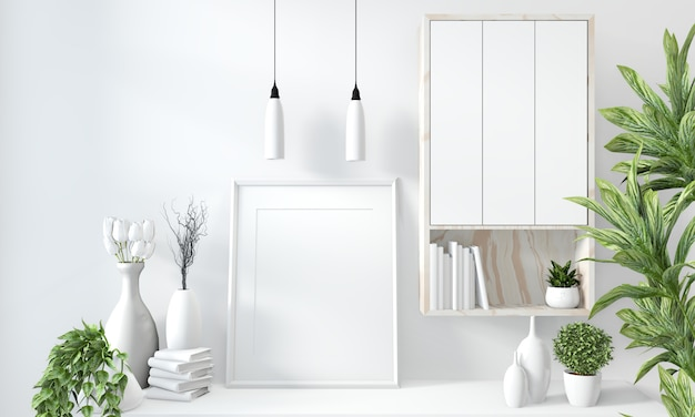 Mock-up kast in moderne witte kamer
