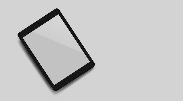 Mock-up nieuwe smartphone met een wit scherm close-up bovenaanzicht.