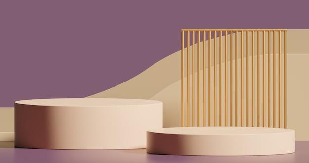 Mock-up podium voor productpresentatie abstract minimaal concept