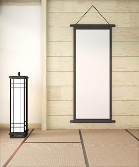 Mock up posterframe op ryokan kamer interieur