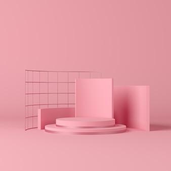 Mock up scene voor display product. 3d-weergave