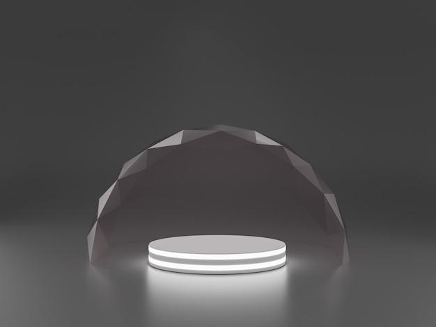 Mock-up transparante glazen stolp