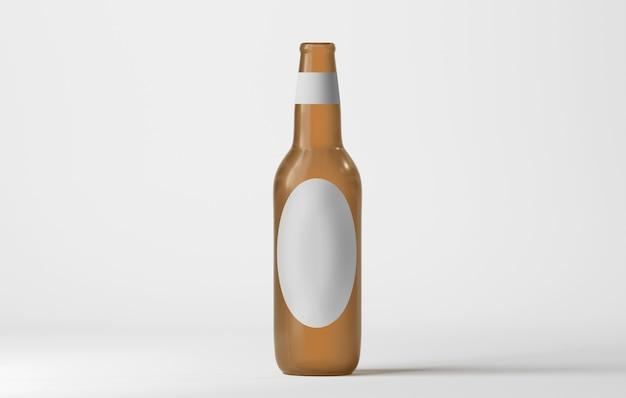 Mock-up van een glazen fles