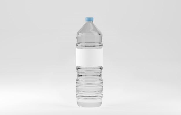 Mock-up van een plastic waterfles