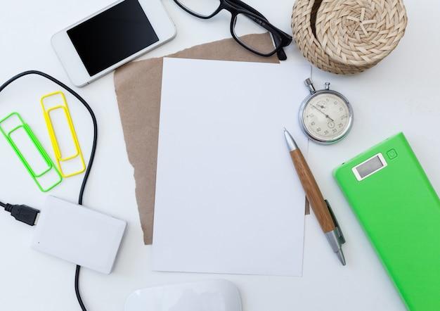 Mock up van kantoorbenodigdheden
