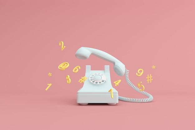 Mock up van telefoon en zwevende alfabetten.