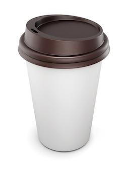 Mock up voor uw design wegwerpbekers voor koffie met deksel