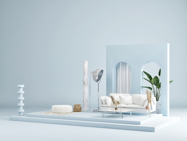 Mockup abstracte studiomode