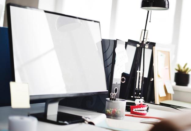 Mockup kopie ruimte leeg scherm concept