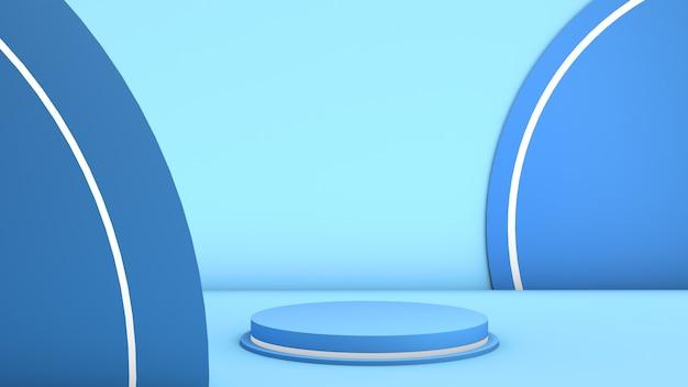 Mockup met geometrische vorm op abstracte achtergrond leeg voetstuk voor productweergave 3d render