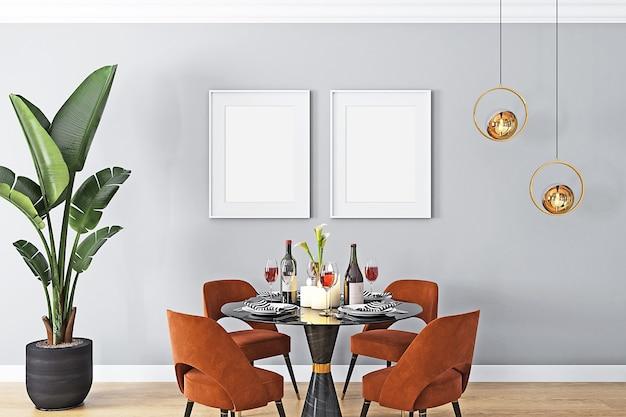 Mockup met witte twee frames