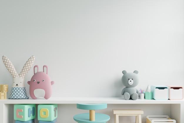 Mockup muur in de kinderkamer