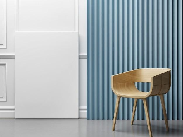 Mockup poster blauwe abstracte paneel achtergrond