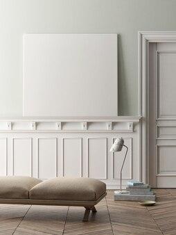 Mockup poster klassiek design stijl woonkamer
