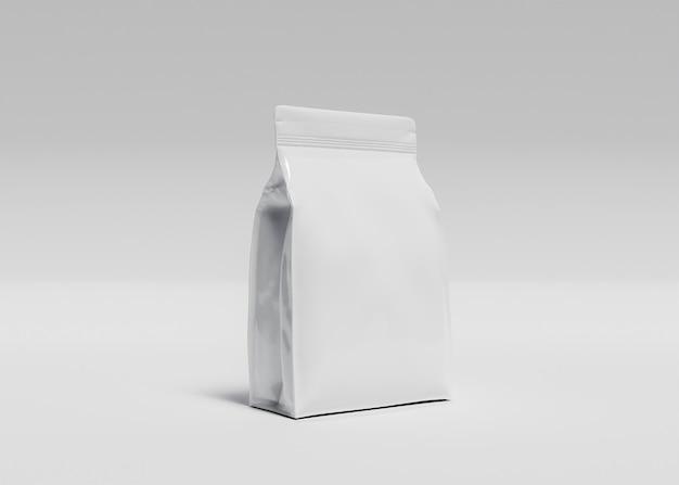 Mockup van grote zak supplementen of diervoeder met wit oppervlak