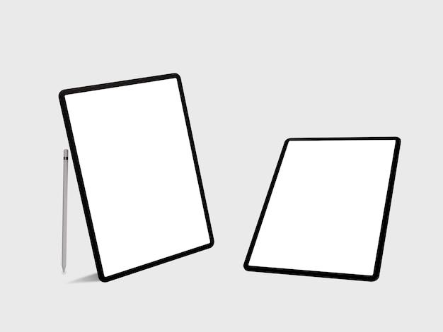 Mockup van ipad met leeg scherm