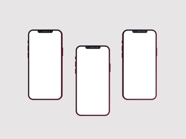 Mockup van telefoon met leeg scherm