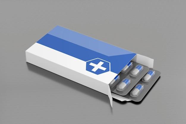 Mockup voor farmaceutische verpakkingen