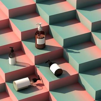 Mockup voor product met trap in kleurverloop