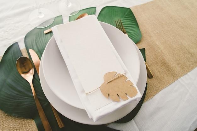 Mockup voor tafelmenu