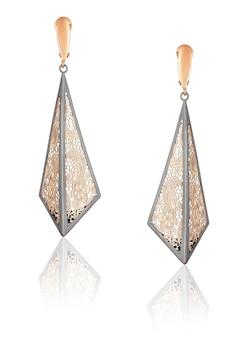 Mode gouden oorbellen. dames sieraden. beste kerstcadeau voor een vrouw.