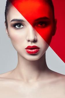 Mode kunst foto pure perfecte huid natuurlijke make-up