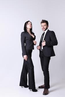 Mode man en vrouw. het concept voor een winkel voor heren- en dameskleding