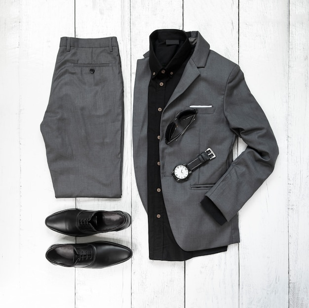 Mode man kleding en accessoires set