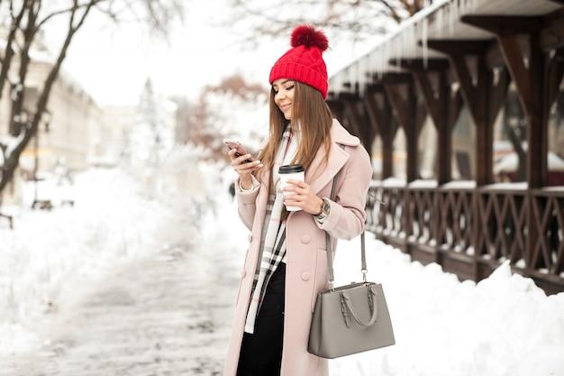 Mode mooie ha sneeuw meisje