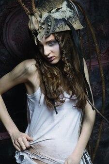 Mode vrouw met lichte make-up