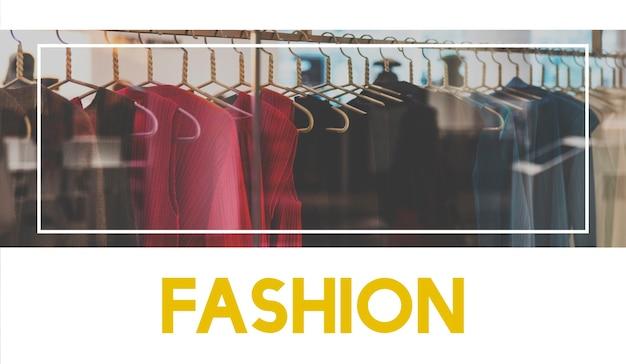 Modecollectie ontwerp winkelen grafische woorden