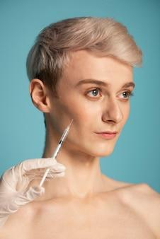 Model met injectie close-up