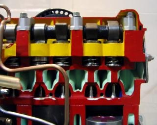 Model van een dieselmotor