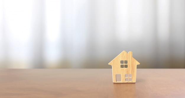 Model van vrijstaand huis, bedrijfshuis idee