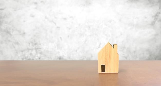 Model van vrijstaand huis, bedrijfshuisidee