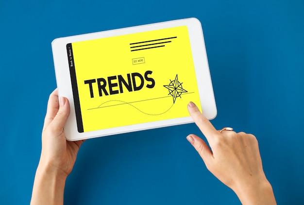 Modeontwerp pijl trends pictogram