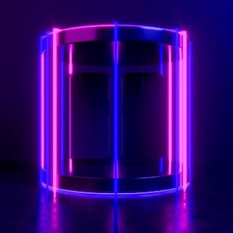Modern apparaat in neonlicht