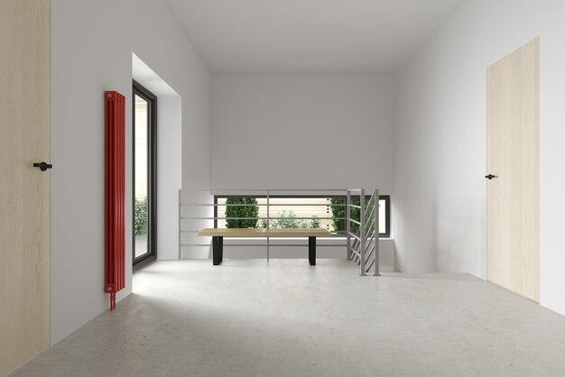 Modern appartement, toegangsdeur 3 d illustratie