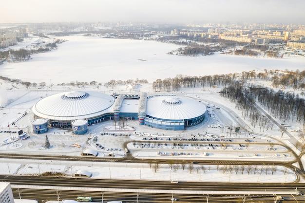 Modern complex van de nationale culturele en sportinstelling chizhovka-arena in minsk