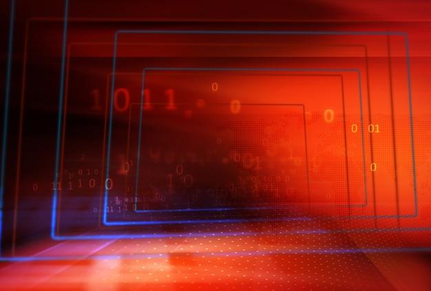 Modern cyberspace dataroomconcept