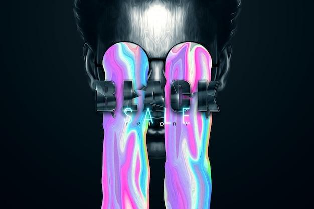 Modern design in tijdschriftstijl, black friday-banner. sociale netwerkpromotie, kortingen prijsdaling poster. 3d illustratie 3d render kopie ruimte.