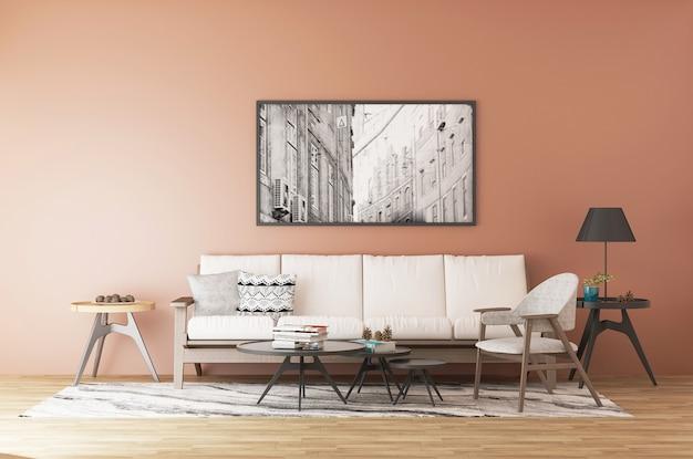Modern en eenvoudig interieurmeubilair, tafels en stoelen