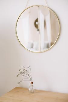 Modern huisdecor. creatieve werkruimte. scandinavisch minimalistisch interieur.