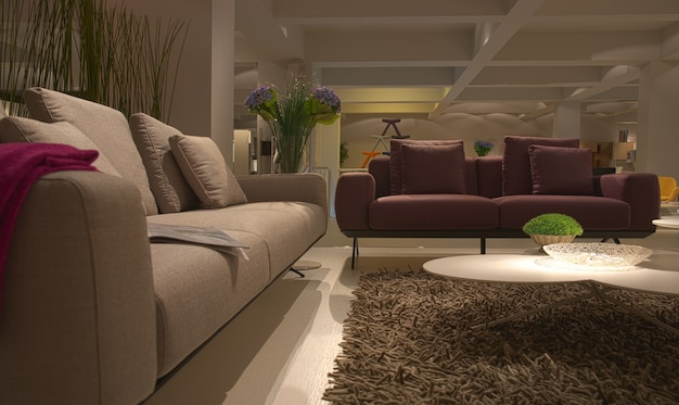 Modern indoor meubelen huis woonkamer