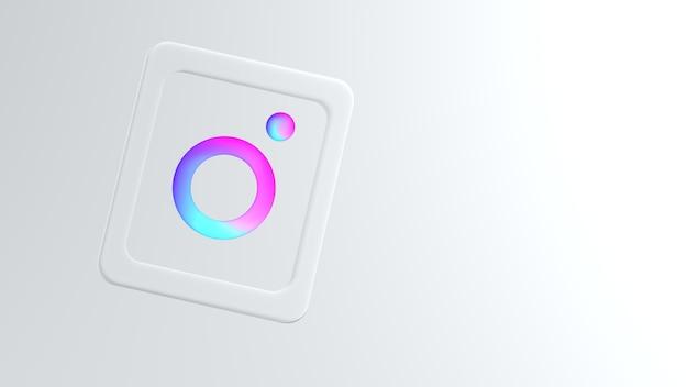 Modern instagram-logo in verloopkleuren met copyspace