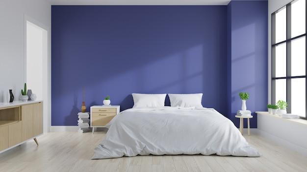 Modern interieur van de slaapkamer